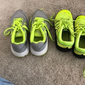 Two pairs of boys 11c Nike sneakers